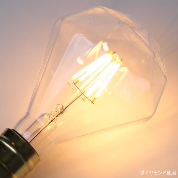 調光器対応 エジソン バルブ ダイヤモンド型  EDISON BULB LED ダイヤ球 4W 100V LED 照明 電球 E26 nestbeauty 04