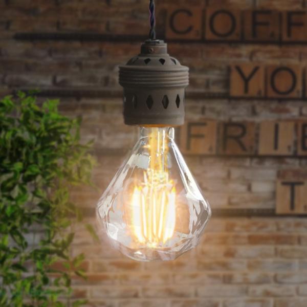 調光器対応 エジソン バルブ ダイヤモンド型  EDISON BULB LED ダイヤ球 4W 100V LED 照明 電球 E26 nestbeauty 06