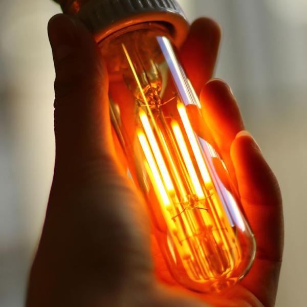 2個セット エジソン電球 LED E26チューブゴールド 調光器対応 裸電球 おしゃれ 細長い 筒形 筒型 フィラメントLED 電球色 レトロ かわいい|nestbeauty|03