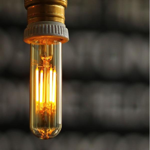 2個セット エジソン電球 LED E26チューブゴールド 調光器対応 裸電球 おしゃれ 細長い 筒形 筒型 フィラメントLED 電球色 レトロ かわいい|nestbeauty|05