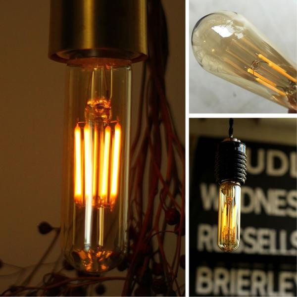 2個セット エジソン電球 LED E26チューブゴールド 調光器対応 裸電球 おしゃれ 細長い 筒形 筒型 フィラメントLED 電球色 レトロ かわいい|nestbeauty|07