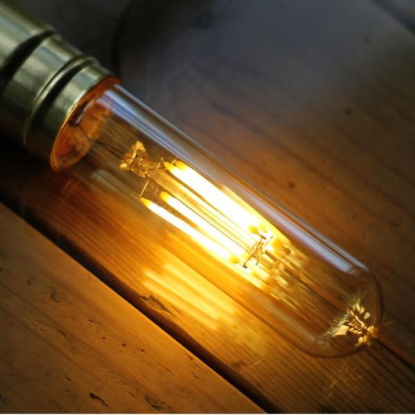 2個セット エジソン電球 LED E26チューブゴールド 調光器対応 裸電球 おしゃれ 細長い 筒形 筒型 フィラメントLED 電球色 レトロ かわいい|nestbeauty|08
