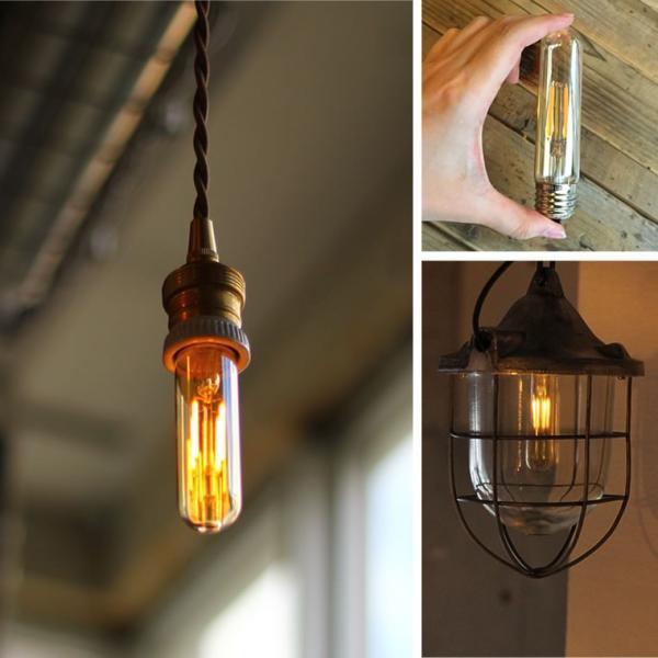2個セット エジソン電球 LED E26チューブゴールド 調光器対応 裸電球 おしゃれ 細長い 筒形 筒型 フィラメントLED 電球色 レトロ かわいい|nestbeauty|10