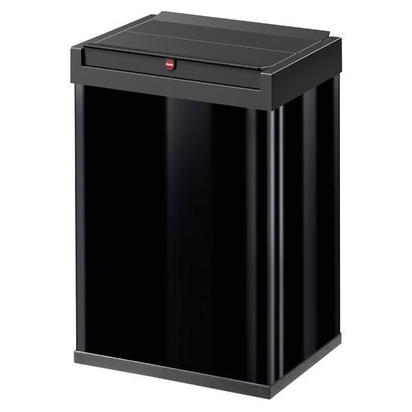 Hailo(ハイロ)ニュービッグボックス40L ブラック(ゴミ箱・ダストBOX)60086