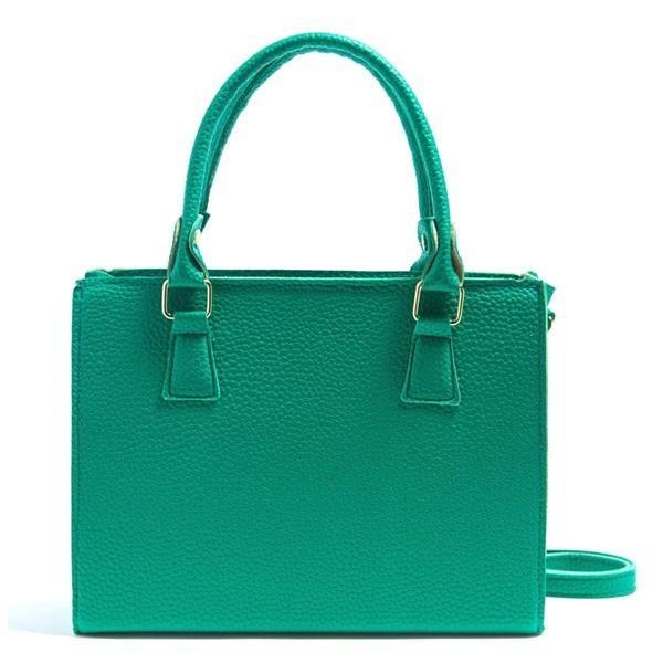 8カラー カラフルなシンプル2Wayハンドバッグ/グリーン