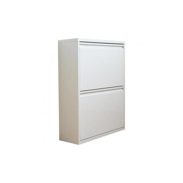 (代引不可)ダストボックス(4分別) ホワイト DS-88