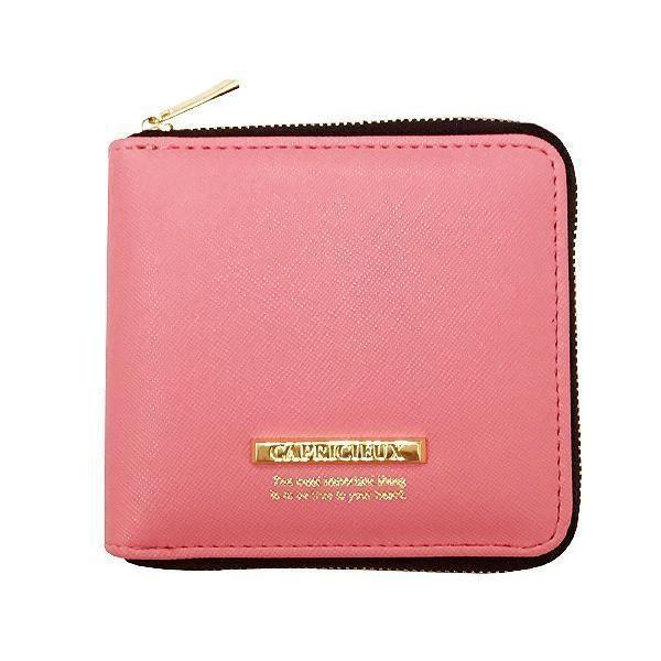Capricieux カプリッシュ 二つ折り財布 ピンク CAP24-1