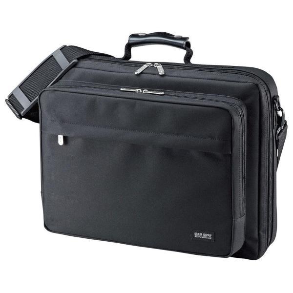 サンワサプライ PCキャリングバッグ 15.6インチワイド シングル ブラック BAG-U54BK2