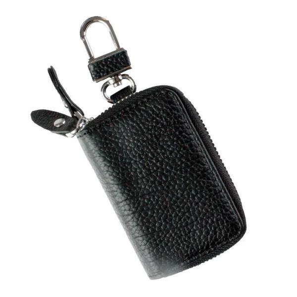 AWESOME(オーサム) スマートキーケース 小銭入れ付きダブルファスナー ブラック ASK-WC002
