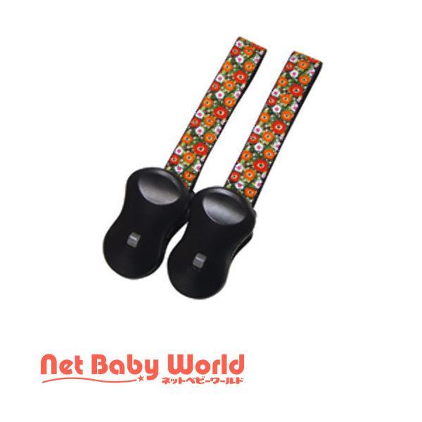 ブランケットクリップ 柄タイプ マルチフラワー ( 2個 )/ 赤ん坊カンパニー ( ベビーカー バギー オプション )