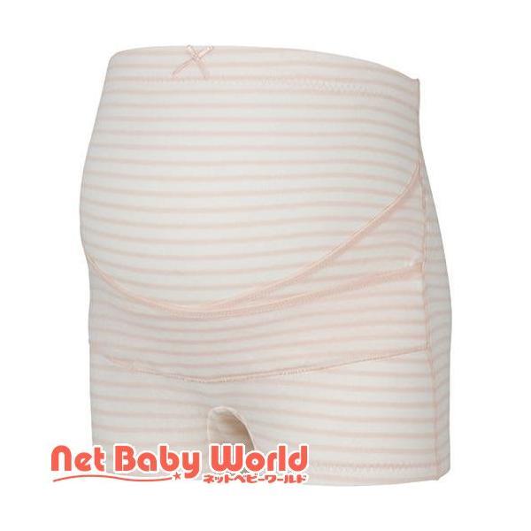 ピジョン おなからくらく妊婦帯パンツ ピンクボーダー L ( 1枚 )/ ピジョン ( ママグッズ マタニティグッズ )