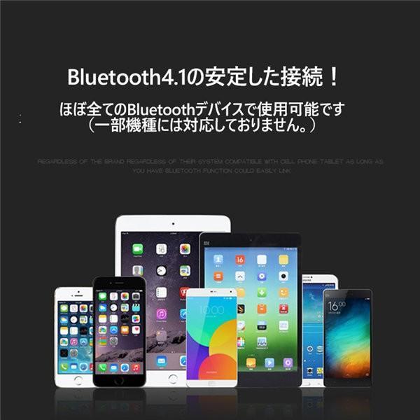 Bluetooth イヤホン ワイヤレス イヤホン iPhone Android スマホ ハンズフリー通話 マイク内蔵 無線ヘッドホン 高音質 重低音|netdirect|05
