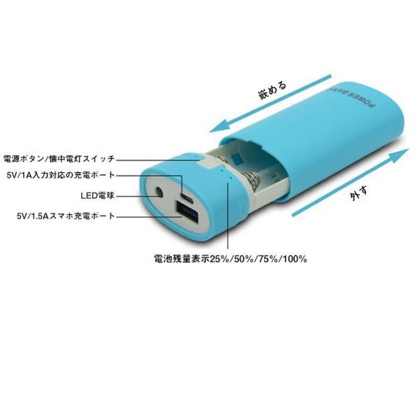18650急速充電器 モバイルバッテリー 電池式 充電器 スマホ 携帯用 iPhone リチウム電池 チャージャー 循環使用 省エネ|netdirect|07
