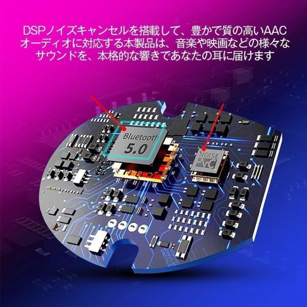 ワイヤレスイヤホン Bluetooth イヤホン両耳 車載イヤフォン ブルートゥース  USBチャージャー付き 高音質 防水|netdirect|06