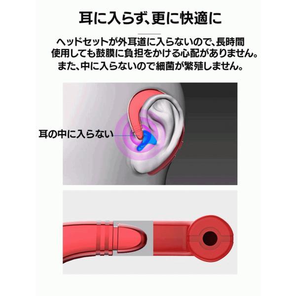 ワイヤレスイヤホン Bluetooth 4.2 ヘッドセット 片耳 高音質 耳掛け型 ブルートゥースイヤホン マイク内蔵 スポーツ ハンズフリー 通話可 iPhone&Android対応 netdirect 06