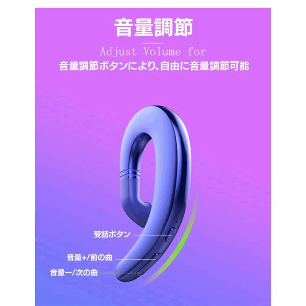 ワイヤレスイヤホン Bluetooth 4.2 ヘッドセット 片耳 高音質 耳掛け型 ブルートゥースイヤホン マイク内蔵 スポーツ ハンズフリー 通話可 iPhone&Android対応 netdirect 07