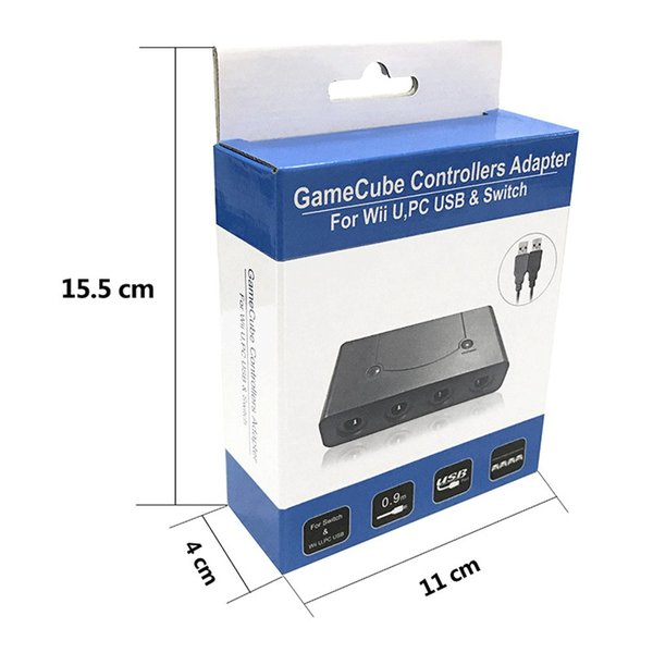 Nintendo Switch/WiiU用/PC用/switch用 ゲームキューブコントローラー 接続タップ TURBO連射機能搭載 スマブラ 変換アダプター 互換品 任天堂 netdirect 08