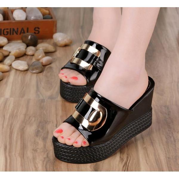 サンダルウエッジ厚底レディースミュールオフィスかわいい歩きやすいシューズ靴カジュアル22.5〜25cm