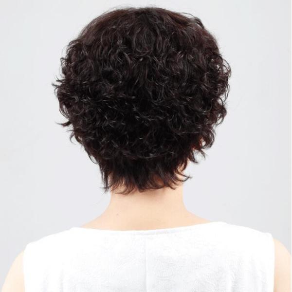 ウィッグ 自然な人毛100%フルウィッグ 人毛 自然 医療用 円形脱毛症 ボブ ミディアム ショート レディース