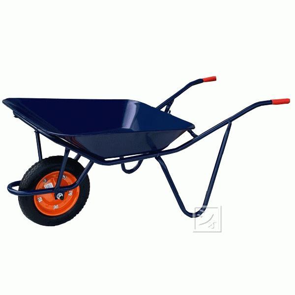 (法人配送限定) WB-2709 スチール一輪車 (浅型・2才) 空気入りタイヤ仕様