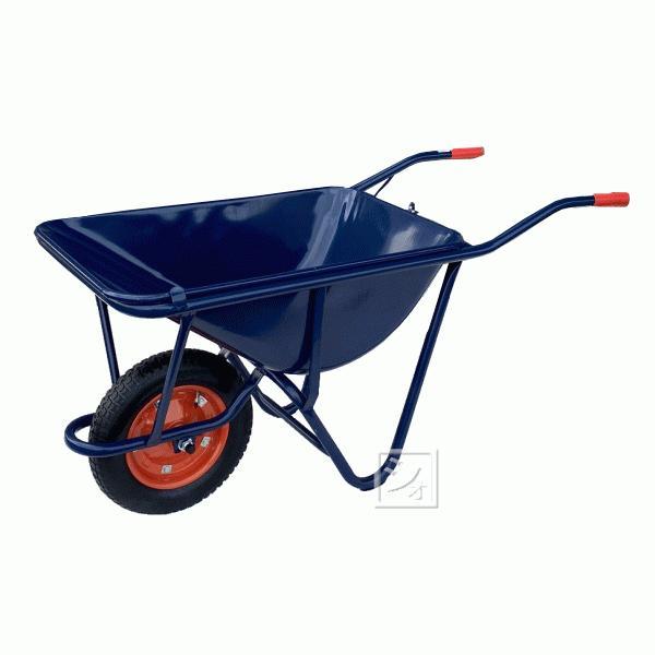(法人配送限定) WB-3502 スチール一輪車 (深型・3才) 空気入りタイヤ仕様
