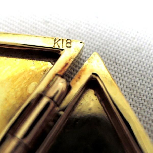 LOVE ロゴイリ K18ペンダントトップ K18YG / 18金イエローゴールド 1.5×3.2(cm) バチカン内径:4×6(mm) 重量9.5g FS 中古 Bランク