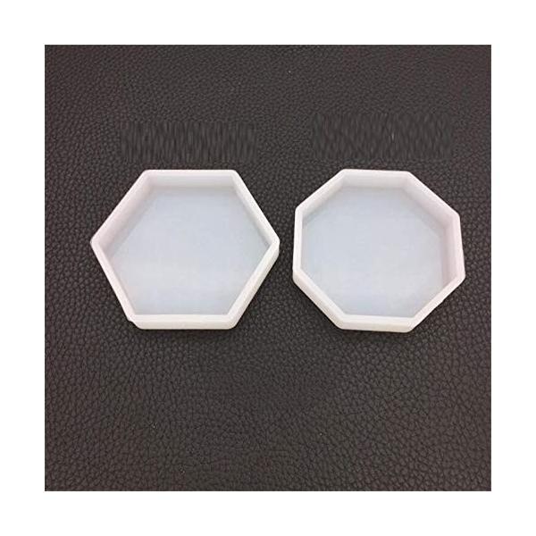 WYF Home 六角形のトレイと八角形のトレイ 樹脂シリコーン金型ネックレスアクセサリー部品シリコーン金型キッ|netshop-ito