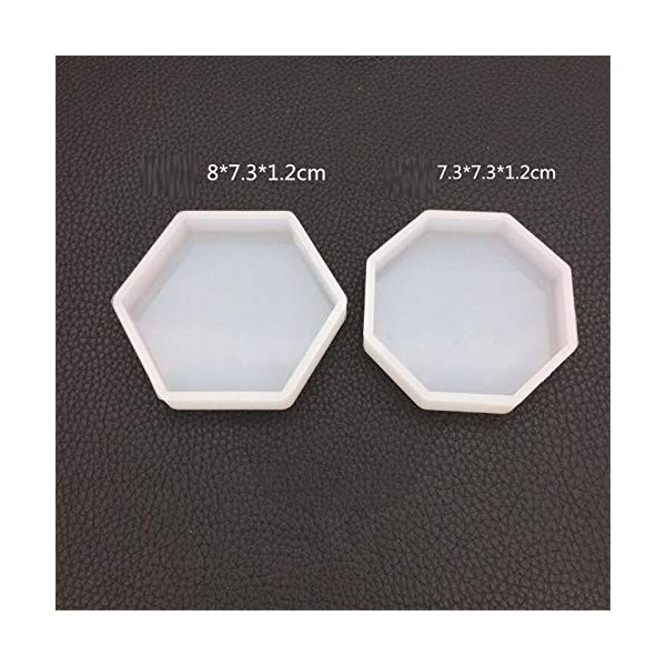 WYF Home 六角形のトレイと八角形のトレイ 樹脂シリコーン金型ネックレスアクセサリー部品シリコーン金型キッ|netshop-ito|02