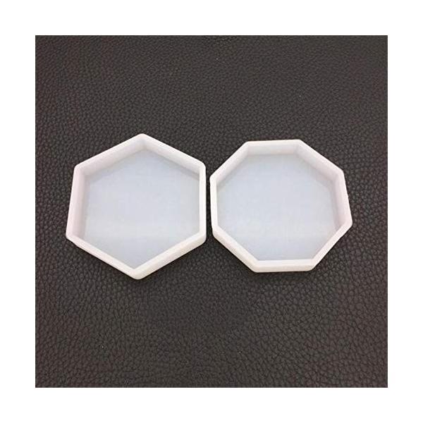 WYF Home 六角形のトレイと八角形のトレイ 樹脂シリコーン金型ネックレスアクセサリー部品シリコーン金型キッ|netshop-ito|05