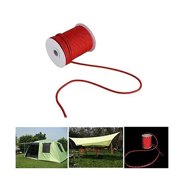 shopdp キャンプ ロープ テントロープ 7芯 反射ロープ 紐 径4mm30m (レッド)|netshop-ito