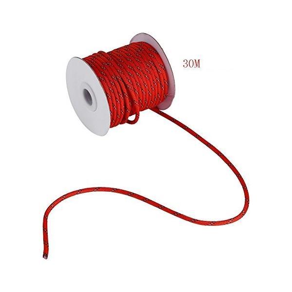 shopdp キャンプ ロープ テントロープ 7芯 反射ロープ 紐 径4mm30m (レッド)|netshop-ito|03
