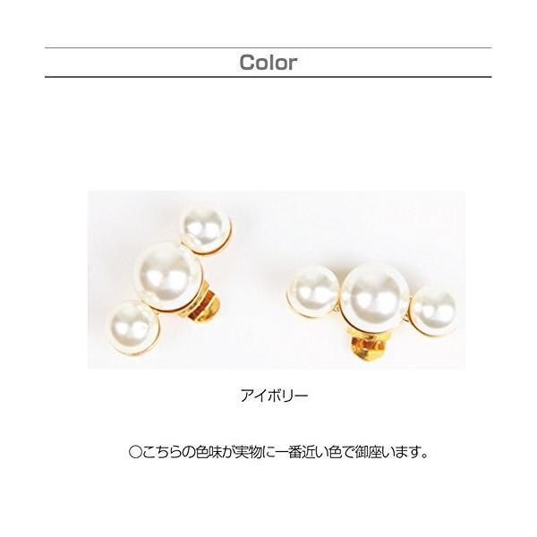 (misaki) かわいい 三連パール シューズクリップ ワンタッチ着脱 1足分 シューアクセサリ 靴飾り 結婚式|netshop-ito|07