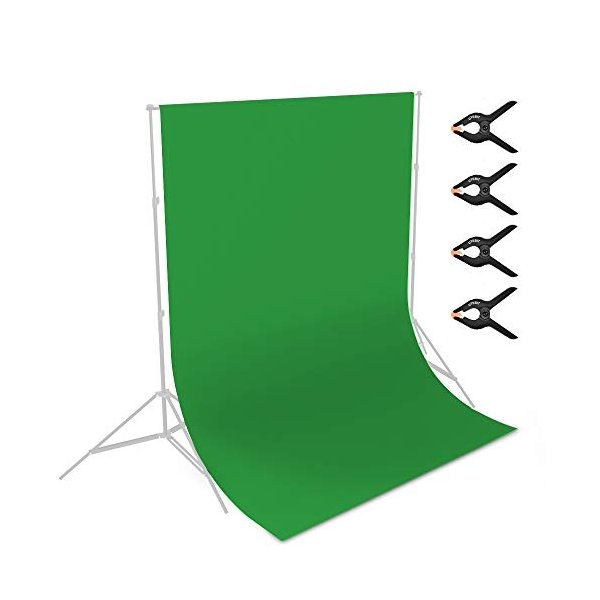 UTEBIT グリーンバック 3 x 2m 厚手 グリーン クロマキー グリーン 撮影用 背景布 9.84 x 6.56ft ポリエステル 単色 み|netshop-ito