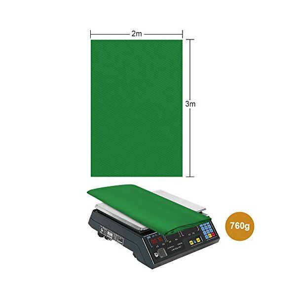 UTEBIT グリーンバック 3 x 2m 厚手 グリーン クロマキー グリーン 撮影用 背景布 9.84 x 6.56ft ポリエステル 単色 み|netshop-ito|06