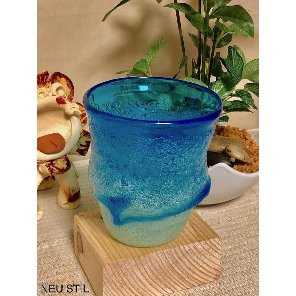 琉球ガラス グラス 稲嶺盛吉 ロックグラス 泡ガラス 白泡 母の日 父の日 お祝い neu-stil