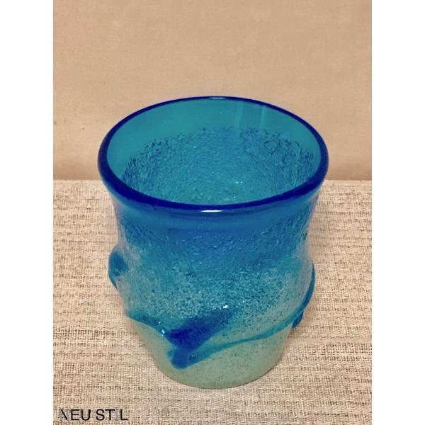 琉球ガラス グラス 稲嶺盛吉 ロックグラス 泡ガラス 白泡 母の日 父の日 お祝い neu-stil 02
