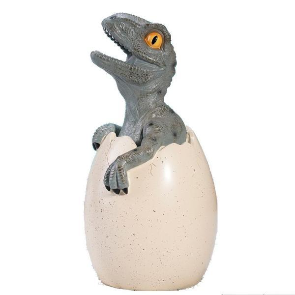 貯金箱 置物 ふ化した恐竜 赤ちゃん 卵 リアル (ティラノサウルス)
