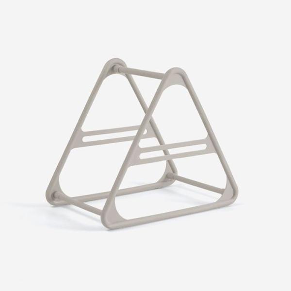 ハンガー収納ホルダー 洗濯バサミ収納 三角形 プラスチック製 (グレー)