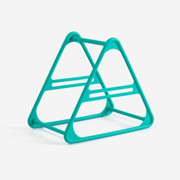 ハンガー収納ホルダー 洗濯バサミ収納 三角形 プラスチック製 (グリーン)