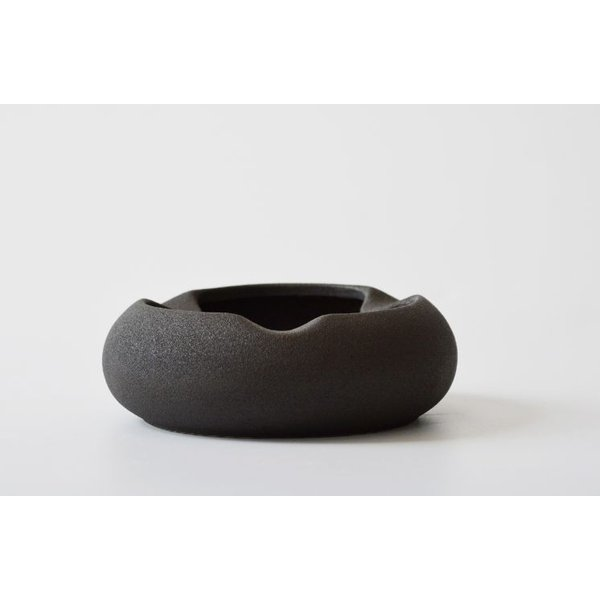 灰皿 コロンとした形 土の風合いを生かしたシンプルデザイン 和モダン風 粗陶