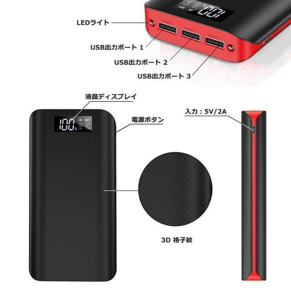 モバイルバッテリー バッテリー 充電 大容量 急速 モバイルバッテリー 大容量 充電器 24000mAh 3台同時充電可  充電 iPhone iPad pseマーク|nevermore|03