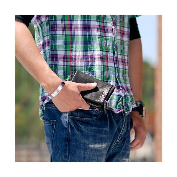 財布 メンズ 二つ折り ブランド  ラウンドファスナー 本革 サイフ さいふ ウォレット 小銭入れ有り レザー ブラック カジュアル 55561|newbag-w|05