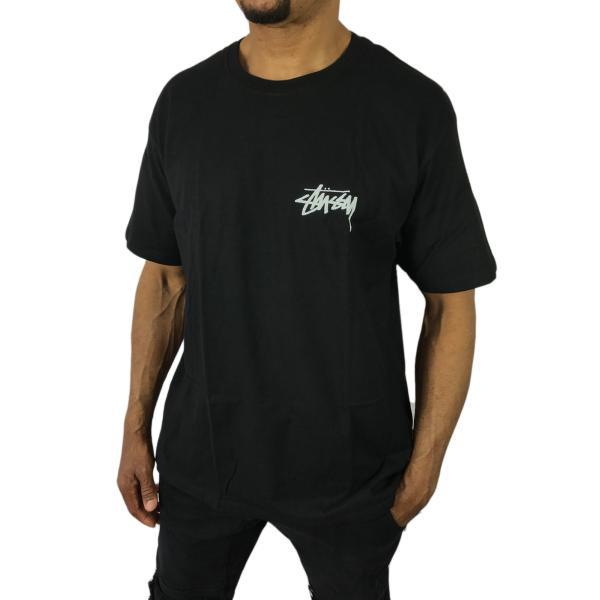 ステューシー Tシャツ Design Group ブラック 黒 デザイングループ メンズ 花 フラワー 春夏 半袖 ストリート stussy●tsa612