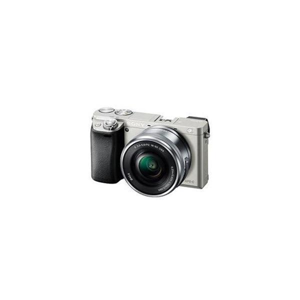 <欠品 未定>☆SONY デジタル一眼カメラ α6000 パワーズームレンズキット (シルバー) ILCE-6000L-S