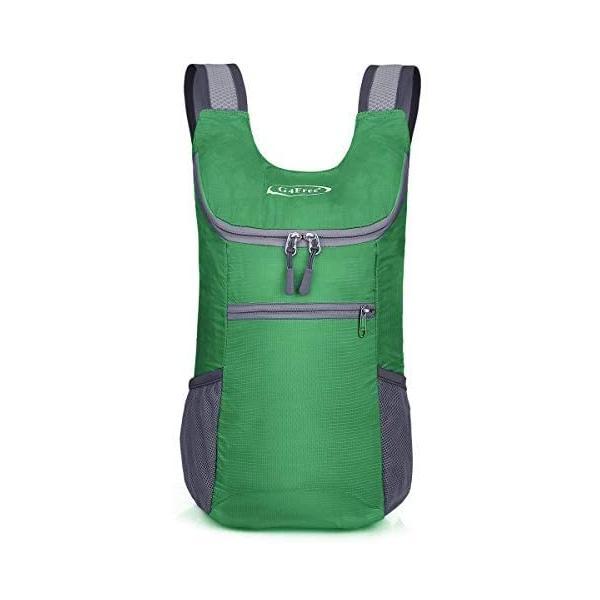 G4Free折畳みバッグ11Lポケッタブルリュック軽量スポーツバッグコンパクトメンズレディースジム子供旅行(草S)