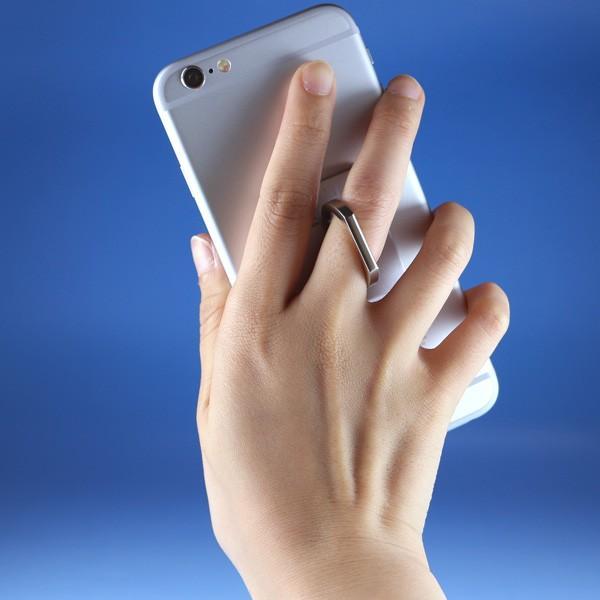 リングホルダー C-Ring スマホ タブレット 用 落下防止 マルチ ホルダー リング & スタンド iPhone / iPad / iPod / Xperia フック付き NEWLOGIC (シルバー)|newlogic-store|02