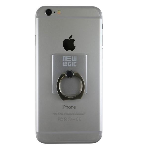 リングホルダー C-Ring スマホ タブレット 用 落下防止 マルチ ホルダー リング & スタンド iPhone / iPad / iPod / Xperia フック付き NEWLOGIC (シルバー)|newlogic-store|03