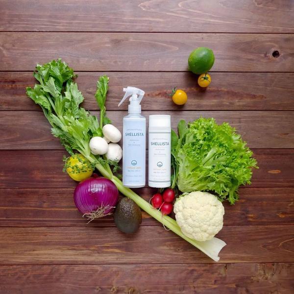 野菜・くだもの洗い Shellista ( シェリスタ ) パウダータイプ 天然成分 100% ナチュラル 100g 【 ノロウイルス 対策 / 残留農薬 ワックス除去 スムージーに 】|newlogic-store|03