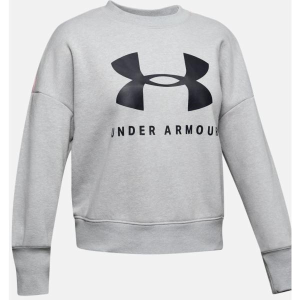 (アンダーアーマー)UAスポーツスタイル フリース クルー(ライフスタイル/ロングスリーブ/GIRLS) トレーニングウエア スウェットシャツ 134