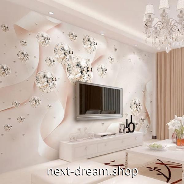 3D 壁紙 1ピース 1m2 ピンク キラキラ ダイヤ 姫 インテリア 部屋装飾 耐水 防湿 防音 h02875|next-dreamshop